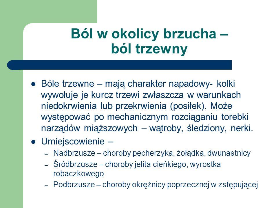 Opukiwanie Opukując brzuch otrzymuje się: A) odgłos bębenkowy – spowodowany obecnością gazów w jelitach, lub przy lekkim wzdęciu ale u osób zdrowych B) odgłos metaliczny – przy dużym wzdęciu C) odgłos stłumiony – płyn w jamie brzusznej, otłuszczenie lub obrzęk powłok brzusznych, guzy, narządy – wątroba i śledziona.