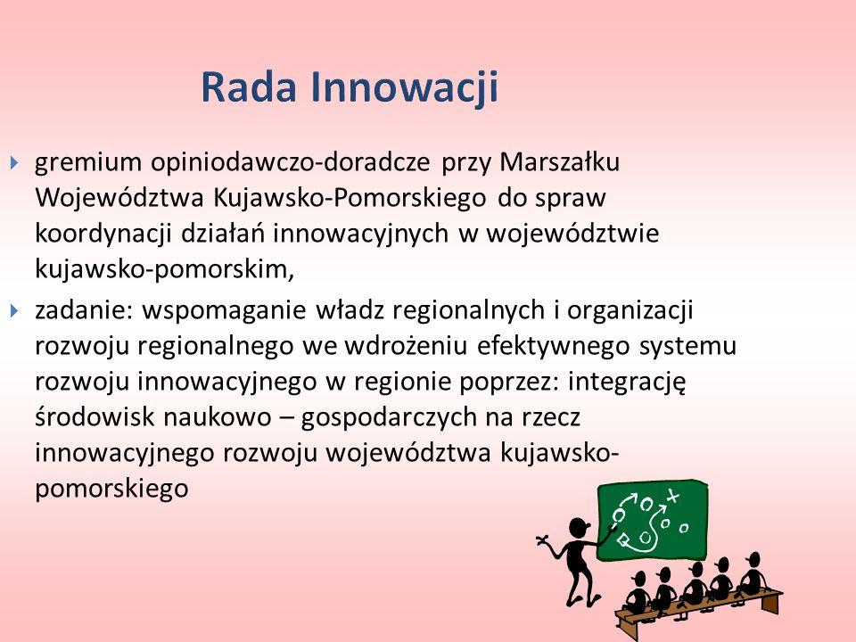 gremium opiniodawczo-doradcze przy Marszałku Województwa Kujawsko-Pomorskiego do spraw koordynacji działań innowacyjnych w województwie kujawsko-pomor