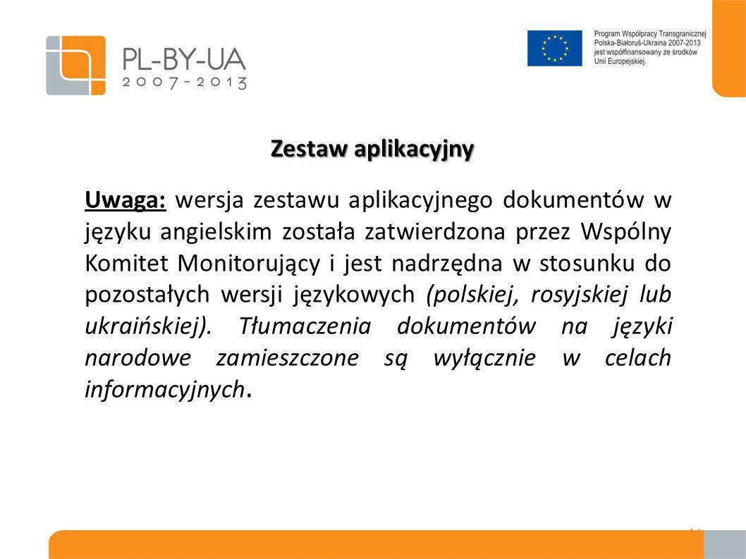 Wnioski należy składać do WST w zapieczętowanej kopercie pocztą poleconą, kurierską lub osobiście; Wnioski należy składać w oryginale i dwóch kopiach w formacie A4 na podany poniżej adres: Wspólny Sekretariat Techniczny Programu Współpracy Transgranicznej Polska-Białoruś-Ukraina Centrum Projektów Europejskich ul.