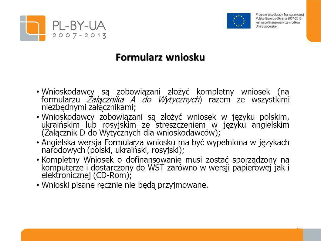 Pytania Pytania w formie pisemnej można wysłać pocztą, pocztą elektroniczną e-mail, faksem nie później niż 21 dni przed upływem terminu składania wniosków (do 8 lutego 2010) z jasnym wskazaniem, do którego naboru wniosków się odnoszą: EuropeAid/129-278/M/ACT/MULTI Pocztą elektroniczną: pbu@cpe.gov.pl Faksem (+4822) 201 97 25 WST/WIZ nie ma obowiązku udzielać wyjaśnień w przypadku pytań zadanych po tym terminie; Odpowiedzi na piśmie zostają udzielone nie później niż na 11 dni przed upływem terminu składania wniosków.