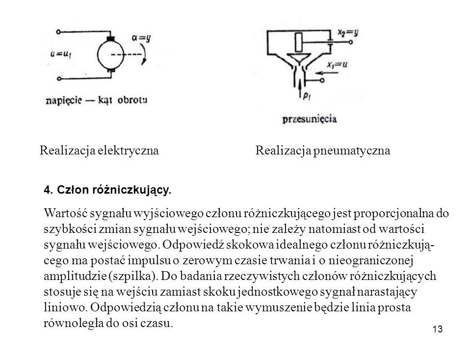 13 Realizacja elektryczna Realizacja pneumatyczna 4.