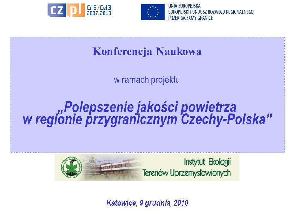 Seminarium w ramach projektuPolepszenie jakości powietrza w regionie przygranicznym Czechy-Polska, Katowice, 30 czerwca, 2010 Polepszenie jakości powietrza PROJEKT: Polepszenie jakości powietrza w regionie przygranicznym Czechy-Polska Stan realizacji Projektu: Inwentaryzacja obszarów i obiektów niskiej emisji pyłu i ich charakterystyka Emisja pyłu PM10 i PM2.5 ze źródeł ciepła małej mocy Modelowanie stężenia pyłu PM10 i PM2.5 z małych źródeł ciepła w regionie przygranicznym Czechy-Polska Analiza wyników uzyskanych z modelowania stężeń pyłu w gminach Zapylenie powietrza atmosferycznego w gminach obszaru przygranicznego Czech Strona internetowa Projektu jako narzędzie do prezentacji wyników i komunikacji z gminami