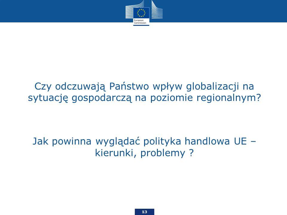 Czy odczuwają Państwo wpływ globalizacji na sytuację gospodarczą na poziomie regionalnym? Jak powinna wyglądać polityka handlowa UE – kierunki, proble