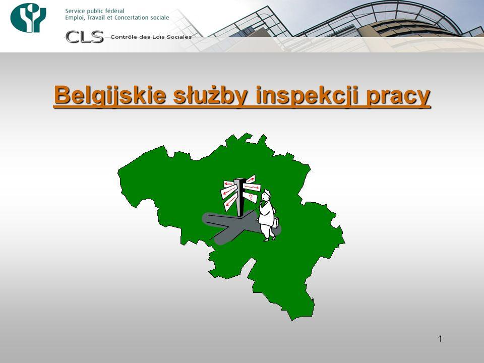 1 Belgijskie służby inspekcji pracy
