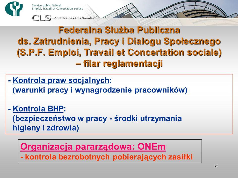 4 - Kontrola praw socjalnych: (warunki pracy i wynagrodzenie pracowników) - Kontrola BHP: (bezpieczeństwo w pracy - środki utrzymania higieny i zdrowi