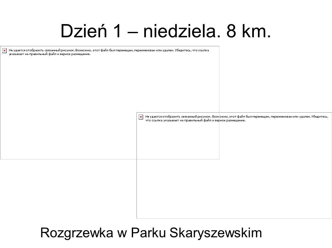 Dzień 1 – niedziela. 8 km. Rozgrzewka w Parku Skaryszewskim