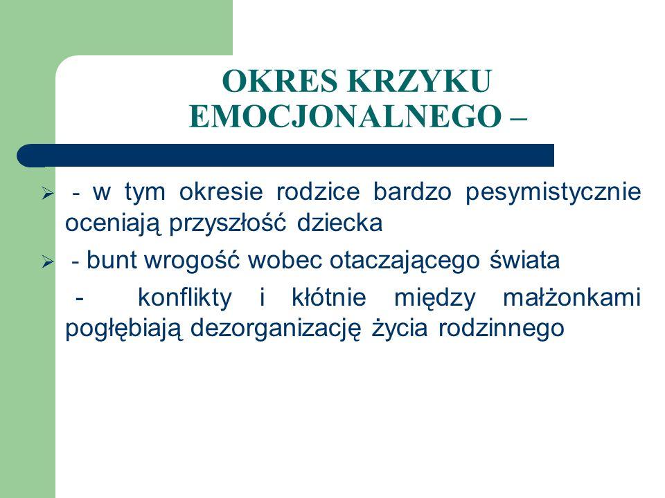CZYNNIKI WPŁYWAJĄCE NA PRZEŻYCIA EMOCJONALNE RODZICÓW 2.