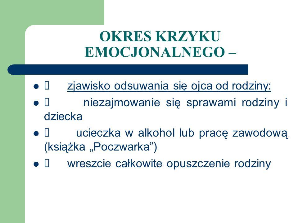 CZYNNIKI WPŁYWAJĄCE NA PRZEŻYCIA EMOCJONALNE RODZICÓW 3.