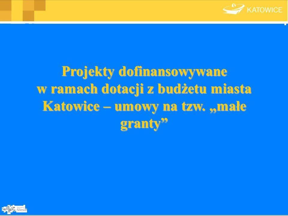 Projekty dofinansowywane w ramach dotacji z budżetu miasta Katowice – umowy na tzw. małe granty