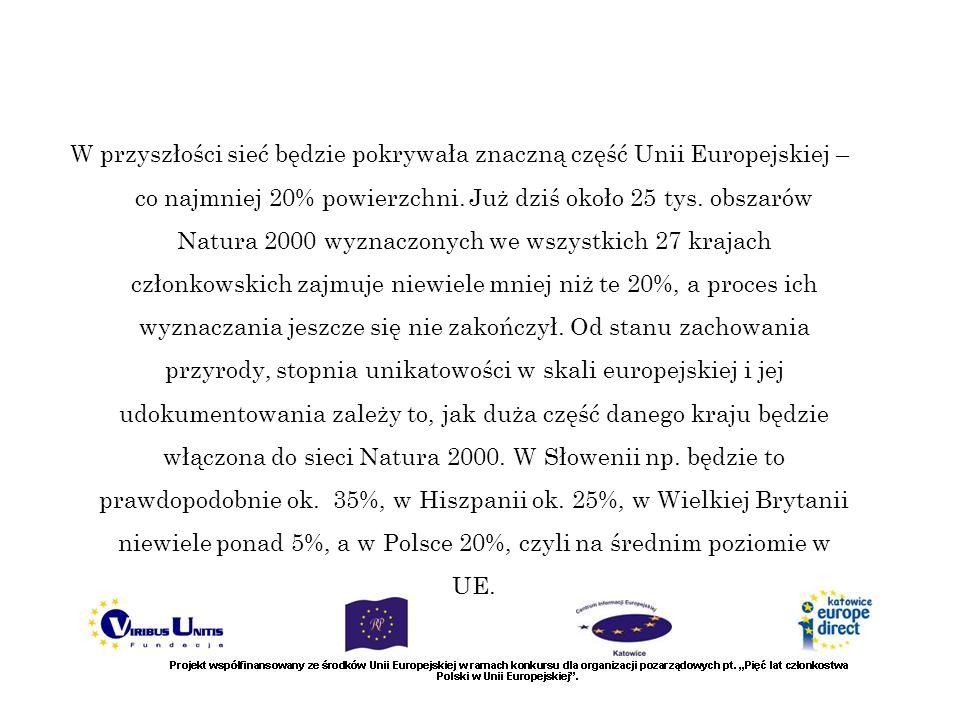 W przyszłości sieć będzie pokrywała znaczną część Unii Europejskiej – co najmniej 20% powierzchni. Już dziś około 25 tys. obszarów Natura 2000 wyznacz