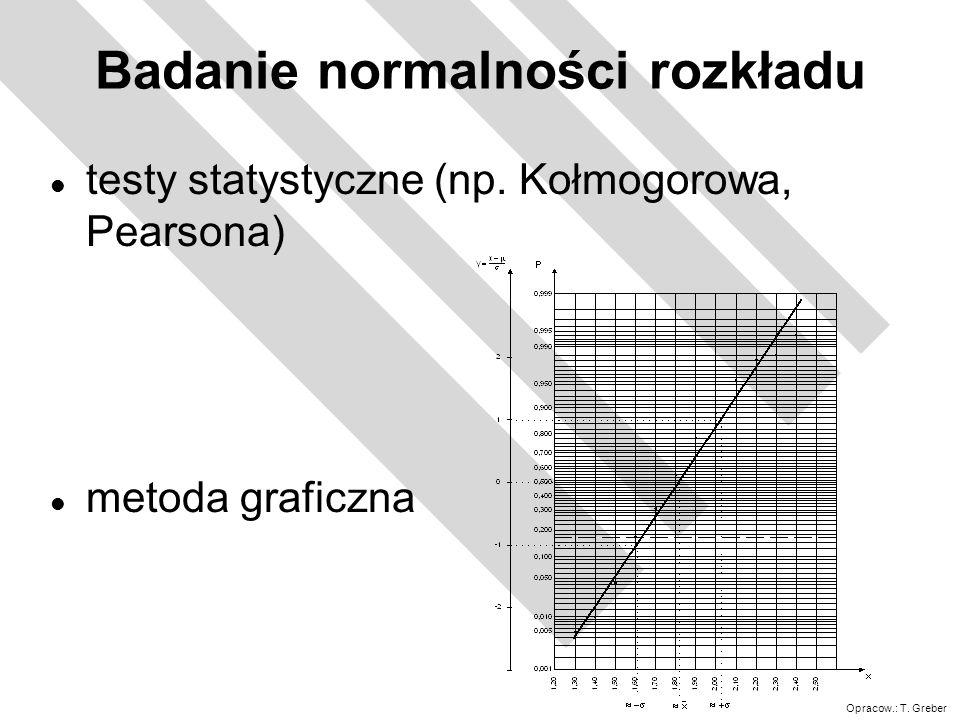 Opracow.: T.Greber Wskaźniki Cp=Cpk=1 X śr. =X nomin.