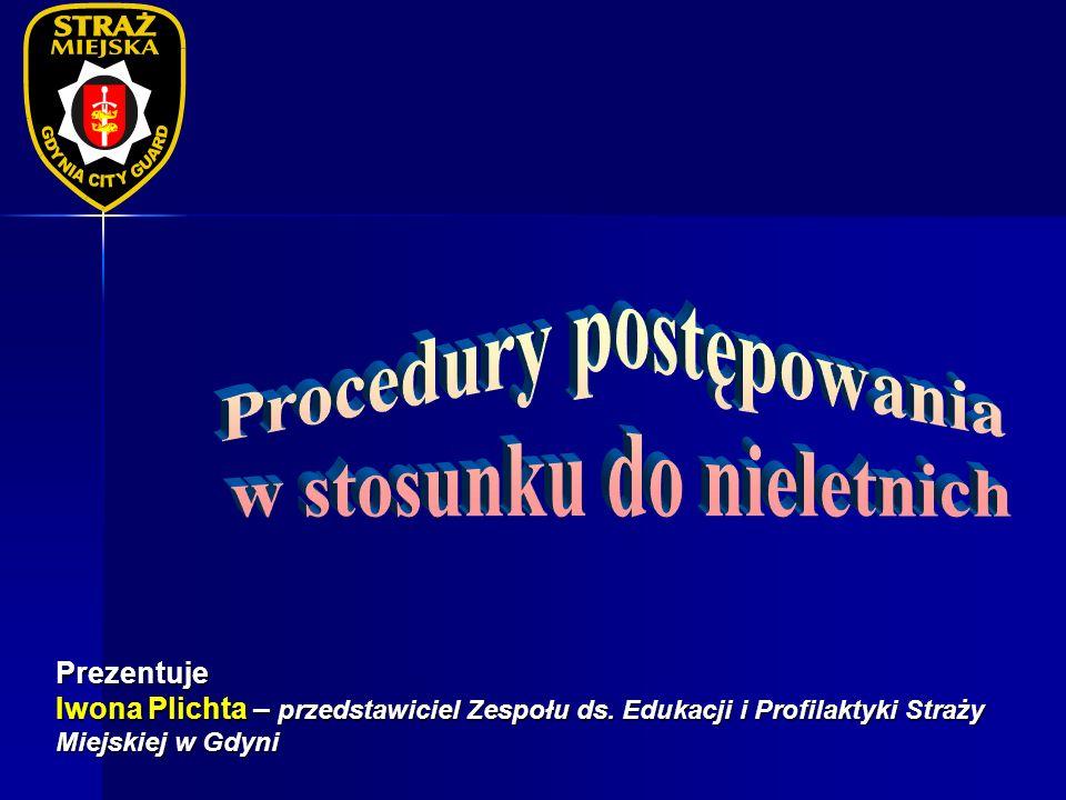 Prezentuje Iwona Plichta – przedstawiciel Zespołu ds. Edukacji i Profilaktyki Straży Miejskiej w Gdyni