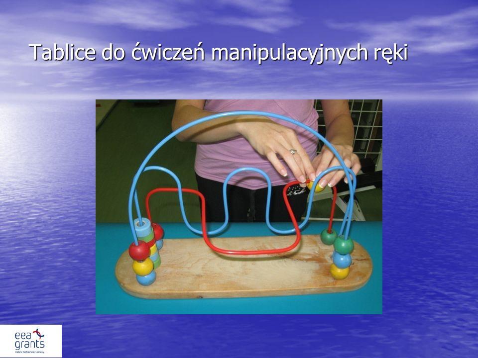 Tablice do ćwiczeń manipulacyjnych ręki