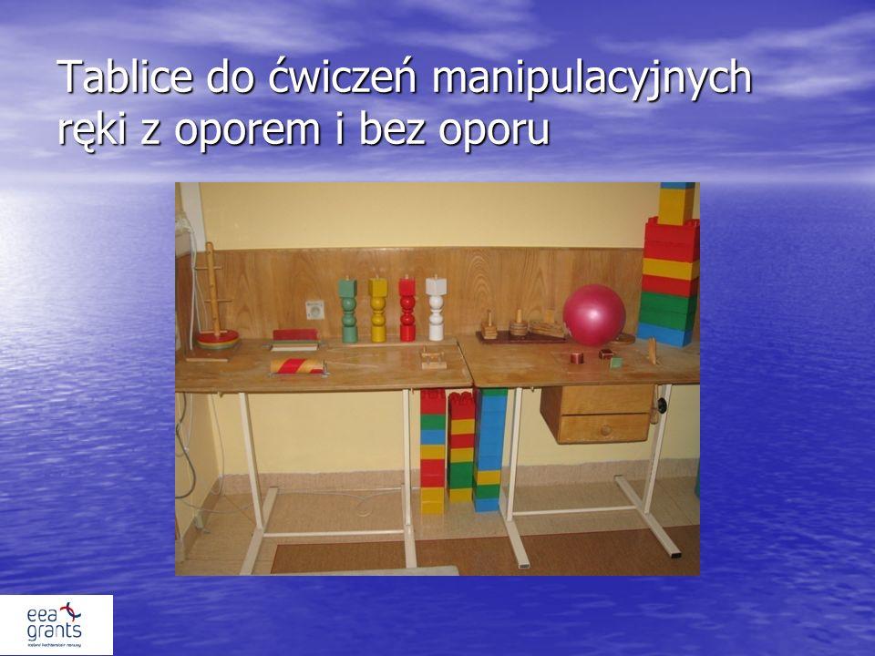 Tablice do ćwiczeń manipulacyjnych ręki z oporem i bez oporu