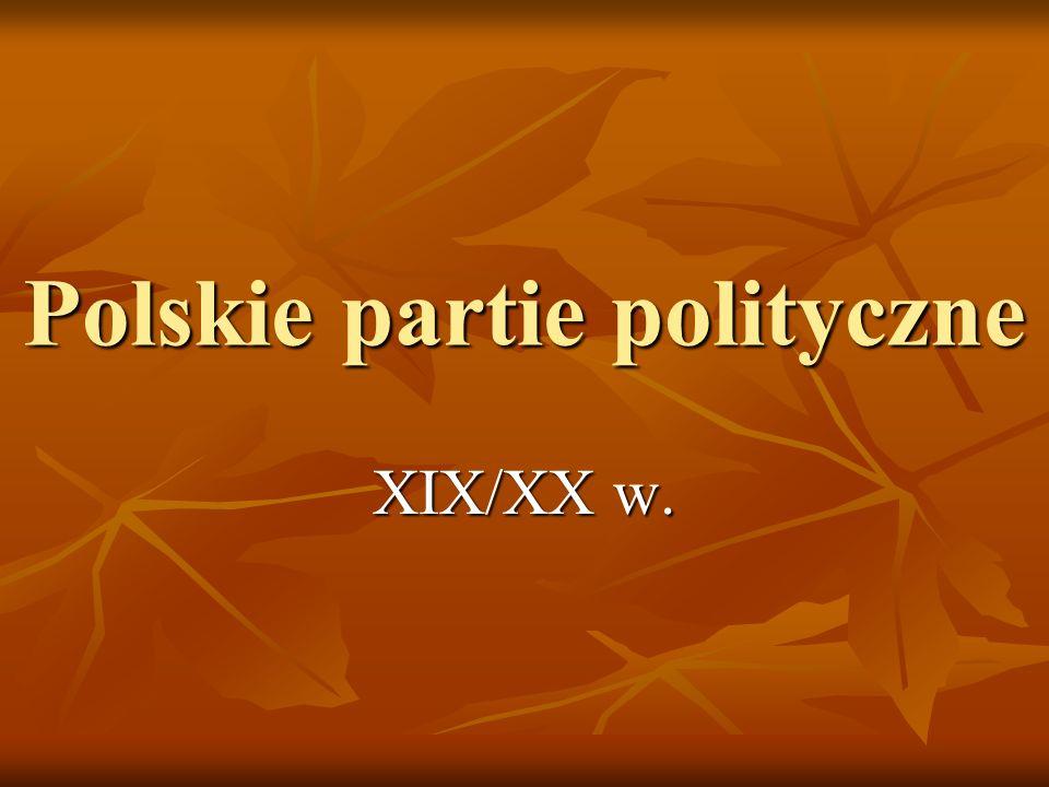 Ugrupowania polityczne na ziemiach polskich w II poł.