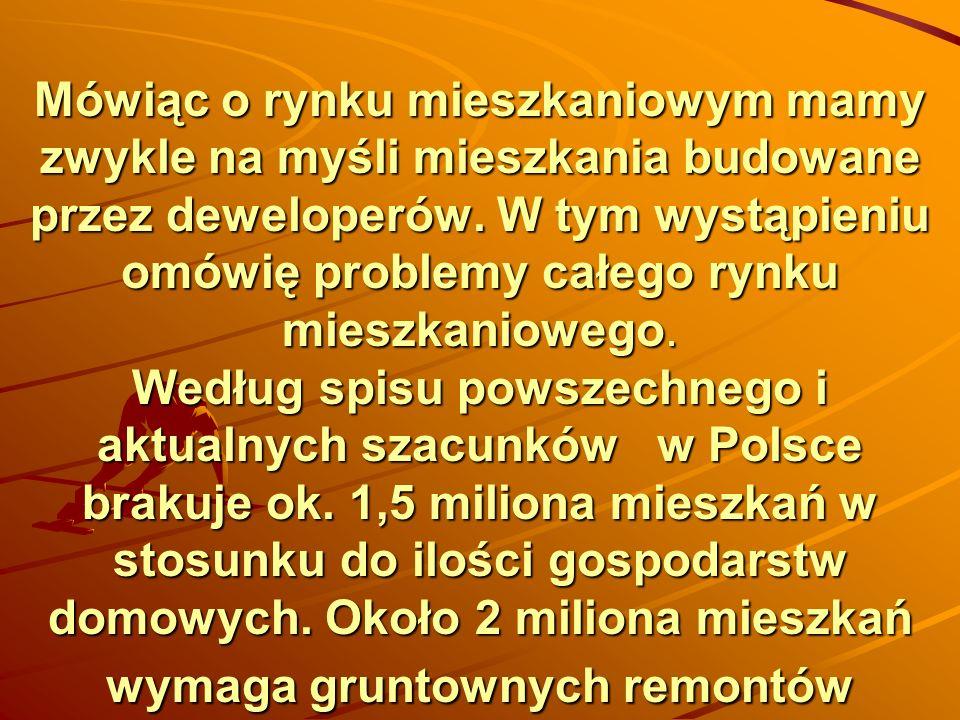 W połowie 2007 roku klimat zmienił się dość wyraźnie: z rynku prawie zniknęli nabywcy spekulacyjni, wysokie ceny i rosnące stopy procentowe uniemożliwiły dużej części Polaków zakup mieszkania.