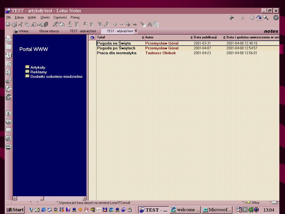 LN generuje kod HTML + JavaScript TEST <!-- document._domino_target = _self ; function _doClick(v, o, t) { var url= /TEST.nsf?OpenDatabase&Click= + v; if (o.href != null) o.href = url; else { if (t == null) t = document._domino_target; window.open(url, t); } // -->