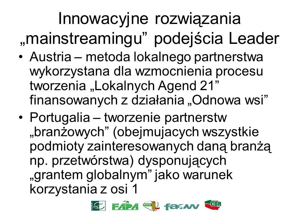 Innowacyjne rozwiązania mainstreamingu podejścia Leader Austria – metoda lokalnego partnerstwa wykorzystana dla wzmocnienia procesu tworzenia Lokalnyc