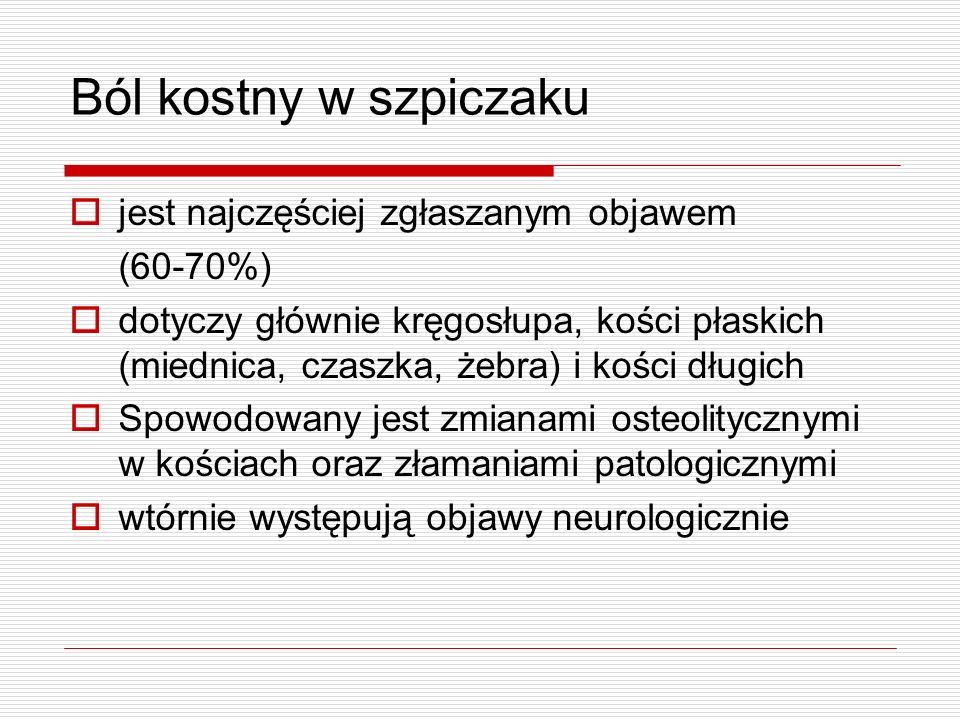 Przyczyny bólu neuropatycznego Uszkodzenie nerwu (uraz, jatrogenne) Ucisk na nerw, naciekanie przez nowotwór Po leczeniu onkologicznym (chemioterapia, radioterapia, leczenie operacyjne) Wtórne uszkodzenie po złamaniach patologicznych kości Choroby przewlekłe (cukrzyca, zapalenia naczyń)
