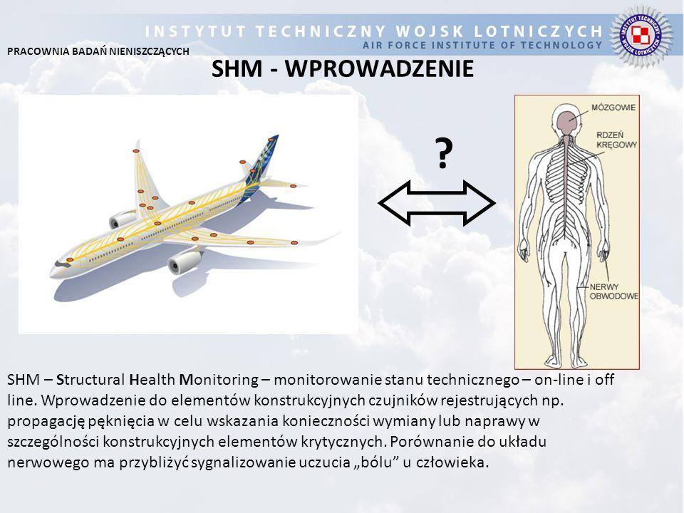 SHM - WPROWADZENIE ? SHM – Structural Health Monitoring – monitorowanie stanu technicznego – on-line i off line. Wprowadzenie do elementów konstrukcyj