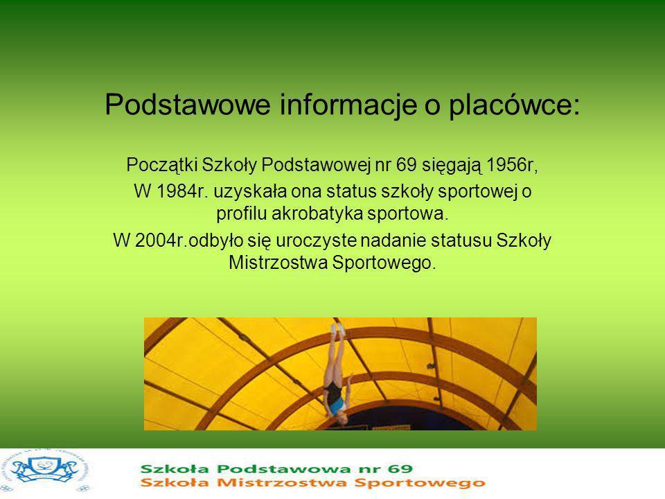 Podstawowe informacje o placówce: Dyrektorem szkoły jest mgr Ewa Baranowska, która funkcję tę objęła w 2001r.