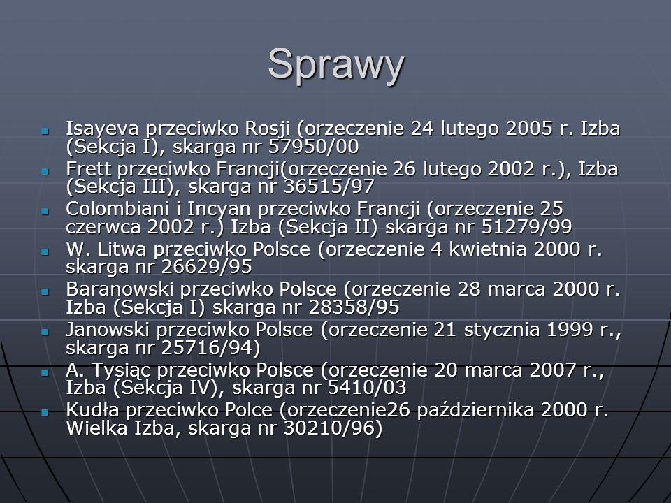 Sprawy Isayeva przeciwko Rosji (orzeczenie 24 lutego 2005 r. Izba (Sekcja I), skarga nr 57950/00 Isayeva przeciwko Rosji (orzeczenie 24 lutego 2005 r.