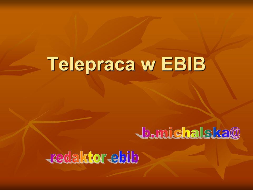 Definicja telepracy