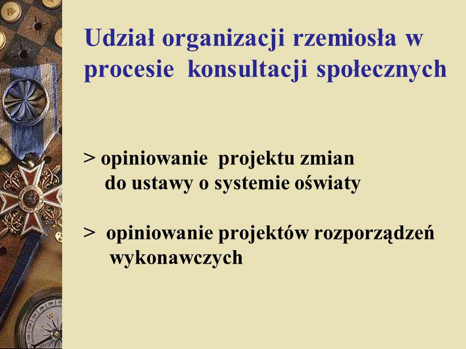 Udział organizacji rzemiosła w procesie konsultacji społecznych > opiniowanie projektu zmian do ustawy o systemie oświaty > opiniowanie projektów rozp