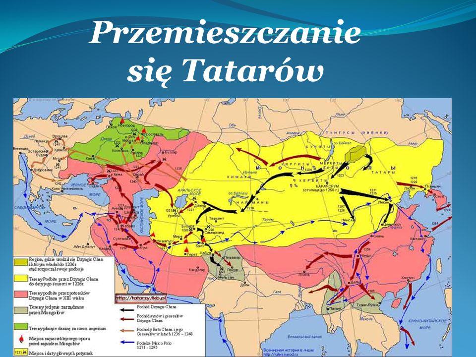 Początki Tatarów w Polsce Tatarzy osiedlali się w Wielkim Księstwie Litewskim od końca XIV wieku, głównie w okolicach Wilna, Trok, Grodna i Kowna, a od XVII wieku także w Koronie, gł.