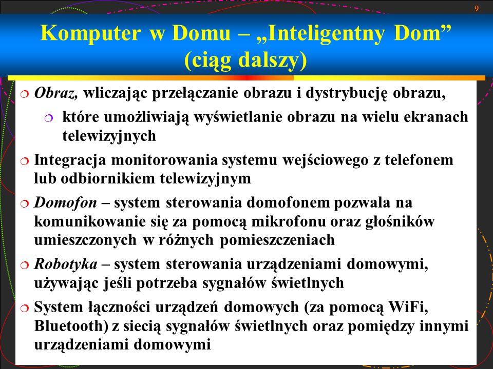 10 Komputer w Domu – Inteligentny Dom (przykłady)
