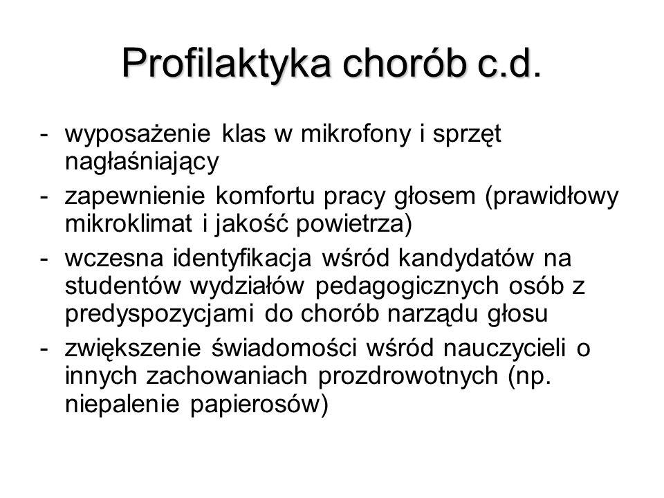 Profilaktyka chorób c.d Profilaktyka chorób c.d.