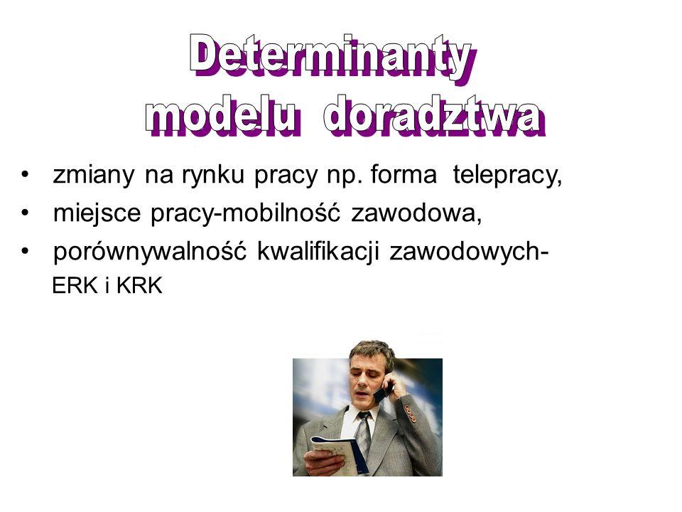 zmiany na rynku pracy np. forma telepracy, miejsce pracy-mobilność zawodowa, porównywalność kwalifikacji zawodowych- ERK i KRK