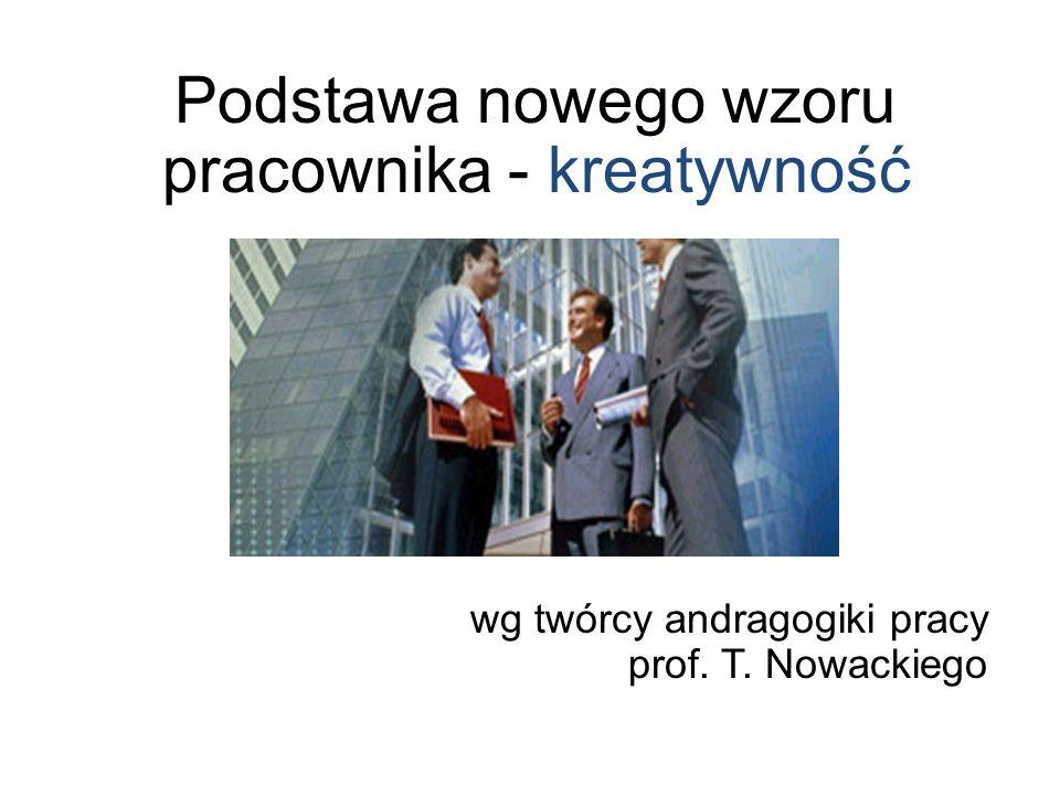 Podstawa nowego wzoru pracownika - kreatywność wg twórcy andragogiki pracy prof. T. Nowackiego