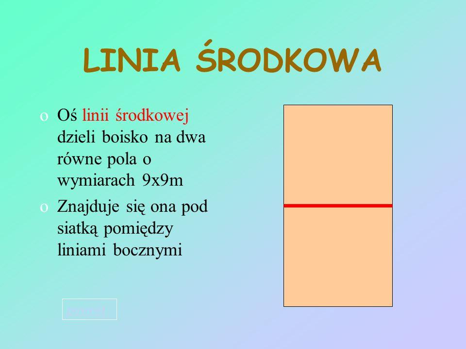 LINIE OGRANICZAJĄCE oWszystkie linie mają 5cm oMuszą być koloru jasnego kontrastującego z kolorem podłoża oLinie boczne i linia końcowa boiska są wykr