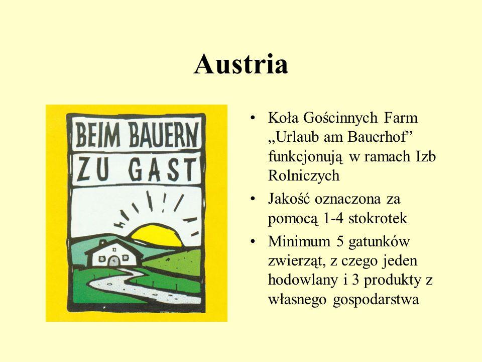 Niemcy - porządek i specjalizacja Nowe znaki wprowadzane od kilku lat w ramach specjalizacji kwater na wsi: urlop w zagrodzie wiejskiej urlop na wsi u