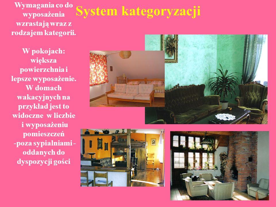 System kategoryzacji Domy wakacyjne, domki letniskowe