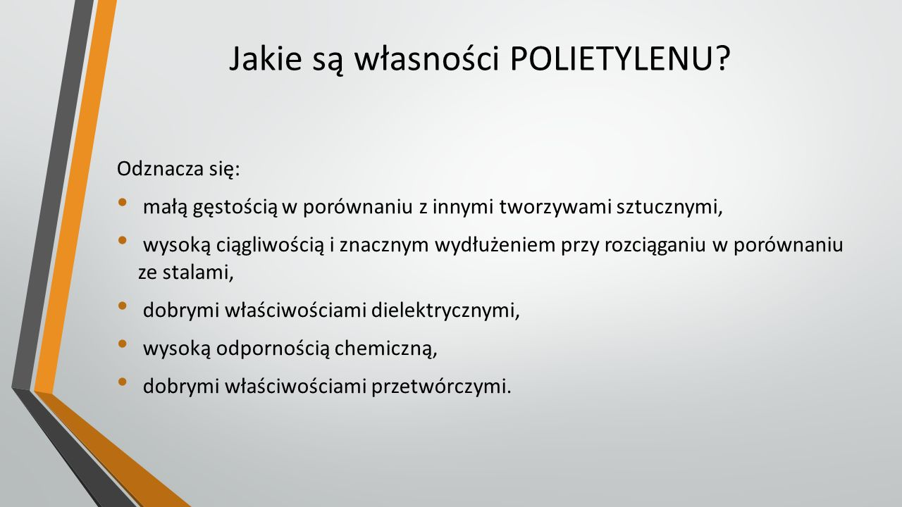 Inne własności POLIETYLENU.