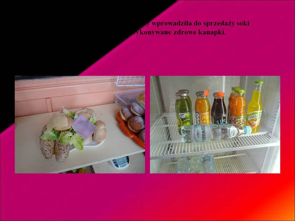 Wzbogacliśmy menu stołówki o zdrowe dodatki – owoc, sok, jogurt.