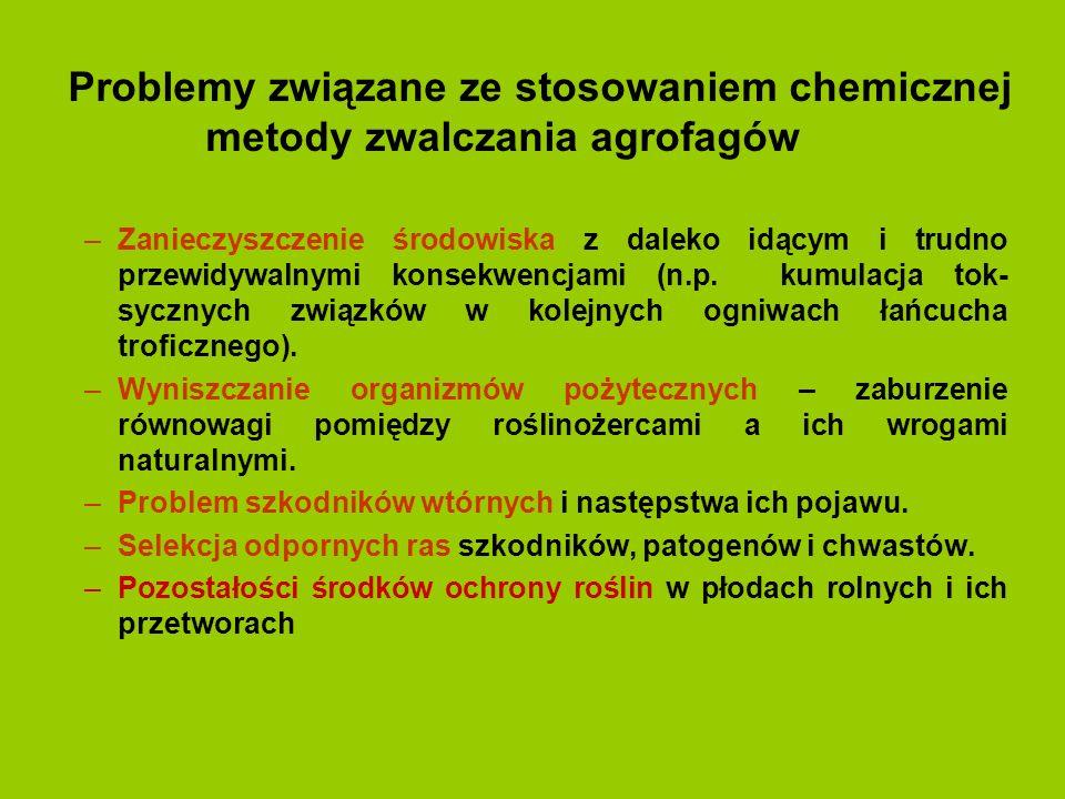 Przeciwdziałanie powstawaniu odporności agrofagów na pestycydy 1.Stosować środki zgodnie z ustalonymi w trakcie badań dawkami.