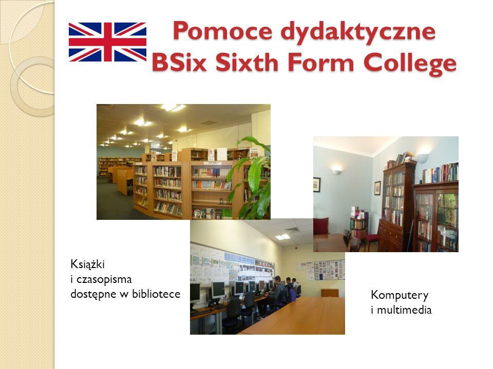 Pomoce dydaktyczne BSix Sixth Form College Książki i czasopisma dostępne w bibliotece Komputery i multimedia