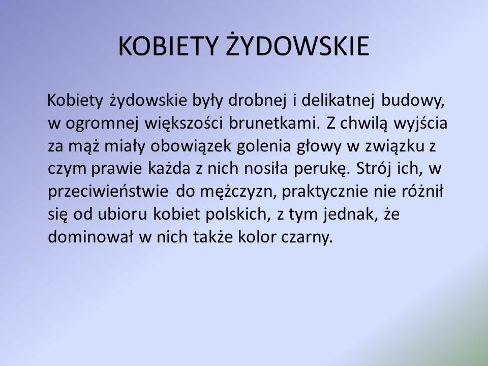 MĘŻCZYŹNI Kilkakrotnie w sprawie stroju wypowiadał się Sejm Żydowski, m.in.