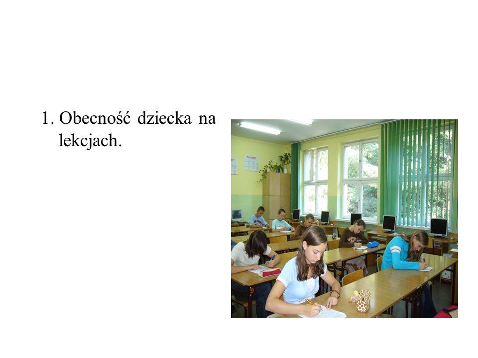 2. Przynoszenie pomocy na lekcje. [książka/zeszyt]