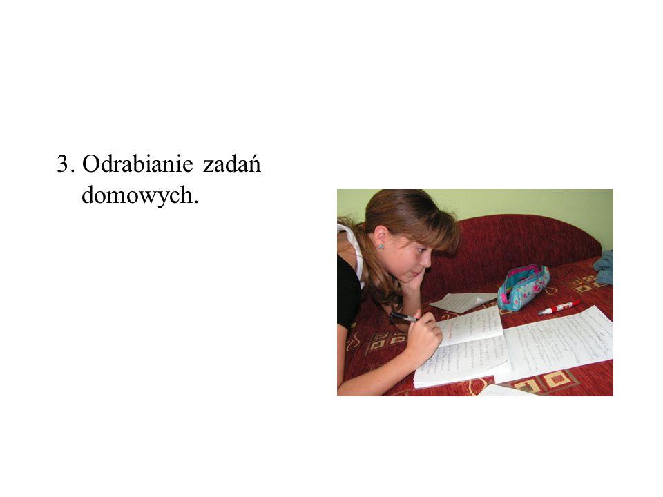 Odrabianie lekcji- samodzielna nauka dziecka w domu 1.ważny element nauczania 2.przygotowuje do samokształcenia 3.wyrabia nawyk wysiłku umysłowego 4.Uczy wykorzystania wiedzy