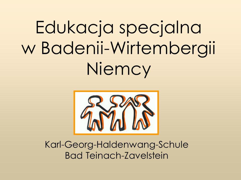 Edukacja specjalna w Badenii-Wirtembergii Niemcy Karl-Georg-Haldenwang-Schule Karl-Georg-Haldenwang-Schule – Misja szkoły 5 wiodących zasad: Każda osoba jest ważna.