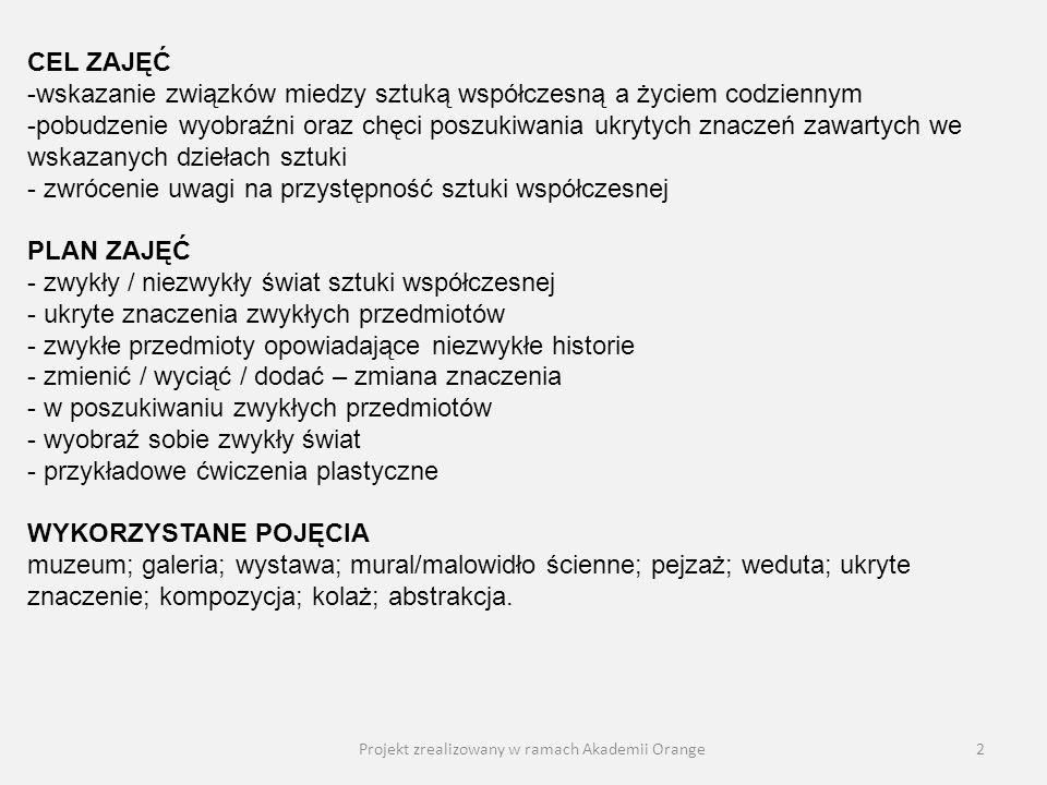 Projekt zrealizowany w ramach Akademii Orange13 Leonard Sempoliński, Czarna kula na białym papierze [nie zdradzając tytułu] Co to jest i czym może być.