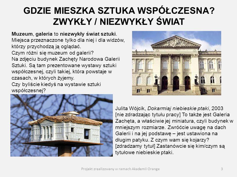 Projekt zrealizowany w ramach Akademii Orange14 Urszula Brzozowska-Strzałecka, Widok z okna, 1996-97 Opiszcie ten obraz.
