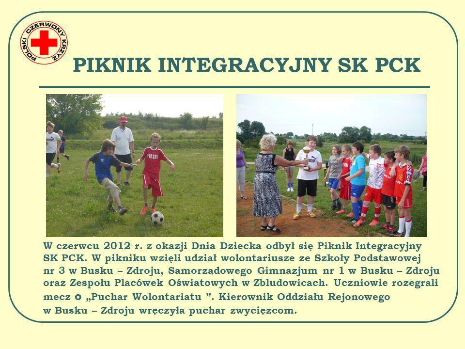 PIKNIK INTEGRACYJNY SK PCK Piknik przebiegał w przyjaznej atmosferze.
