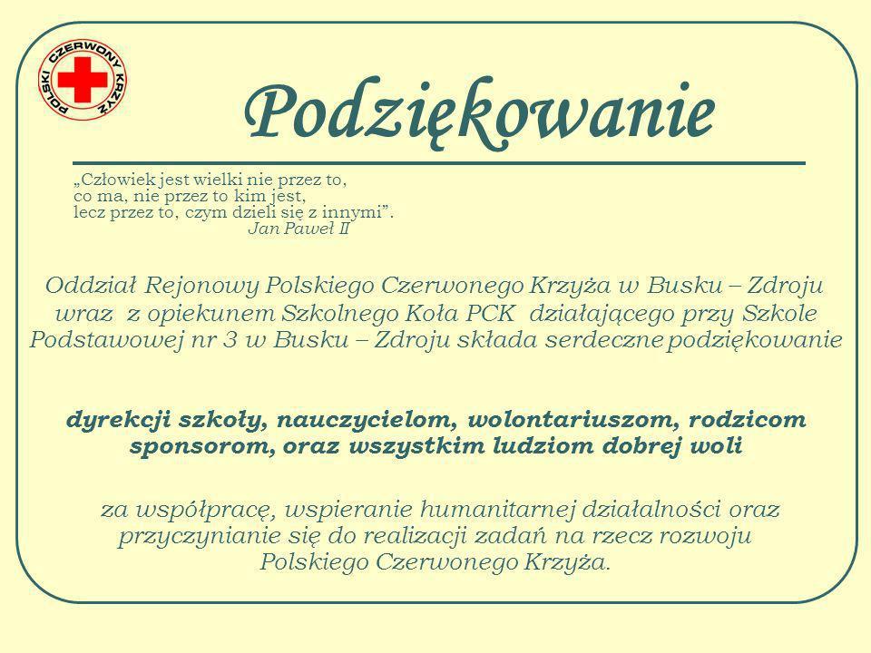 Opiekun SK PCK Jadwiga Nowak Dziękuję za uwagę