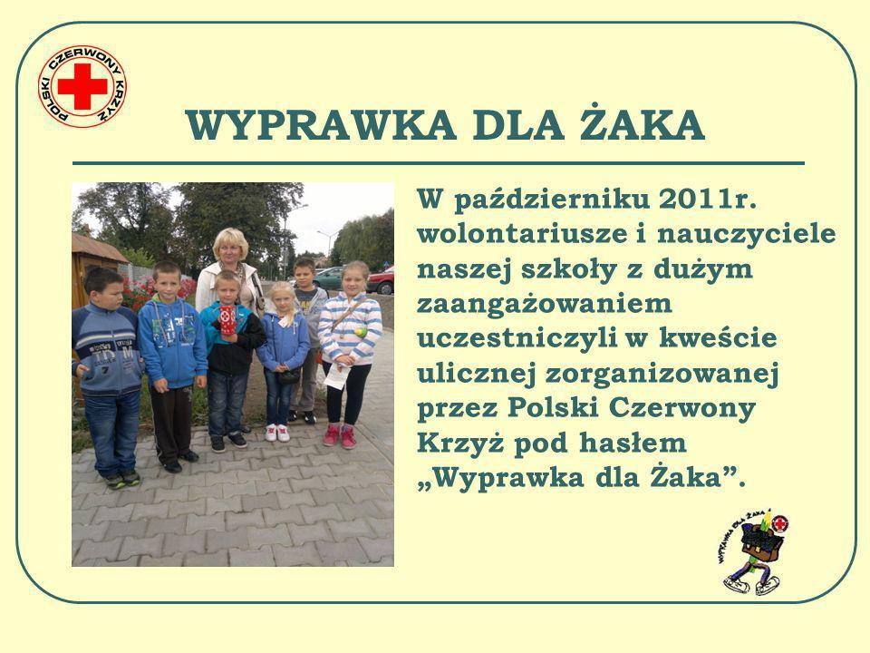 NIESIEMY POMOC Zebrane fundusze Polski Czerwony Krzyż przeznaczył na pomoc potrzebującym uczniom naszej szkoły w zakresie zakupu wyprawki szkolnej i dożywiania.