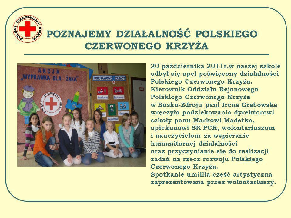POMOC NA ŚWIĘTA BOŻEGO NARODZENIA W grudniu wolontariusze i nauczyciele naszej szkoły uczestniczyli w akcji charytatywnej Polskiego Czerwonego Krzyża.